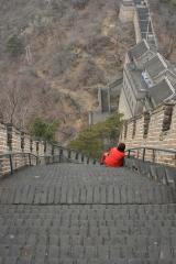 Die chinesische Mauer bei Mutianyu - sehr steil