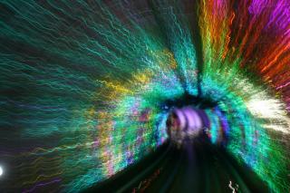 Eine Aufnahme bei der Fahrt durch den Bund Sightseeing Tunnel