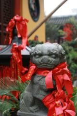 Löwe im Jade-Buddha-Tempel
